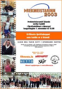 Þrekmeistaramót Íslands 2003